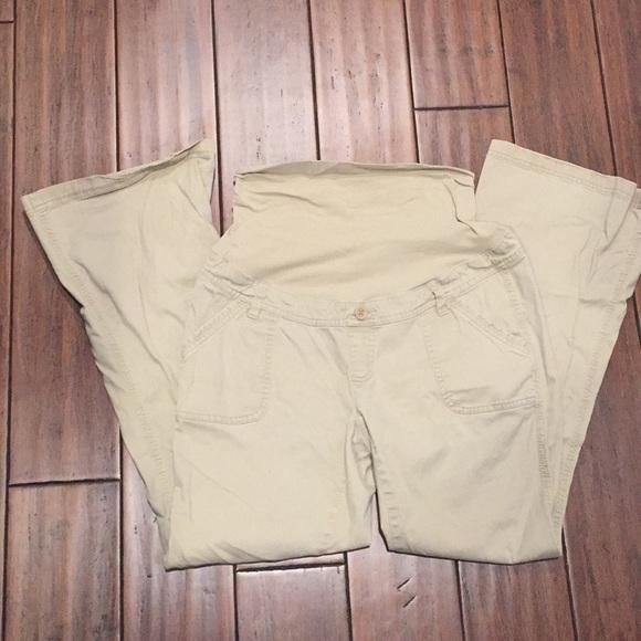 Motherhood Maternity Pants Jumpsuits Maternity Khaki Pants Size Medium Poshmark
